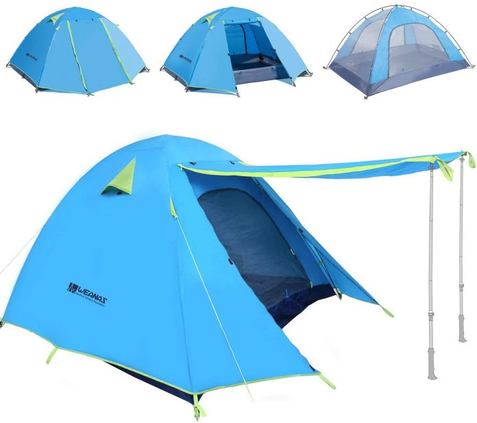 best Weanas Professional Backpacking Tent 2 3 4 Person waterproof family tent