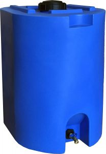 best Blue 55 Gallon Water Storage Tank by Water Prepared Container