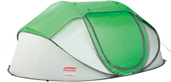 best Coleman 4-Person Pop-Up Tent for camping
