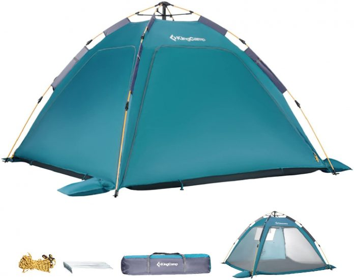 best KingCamp Quick up 2-3 Person Camping Mesh Beach Tent  for camping on the beach
