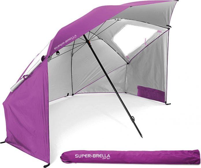 best Sport-Brella Super-Brella Canopy Umbrella For Beach camping