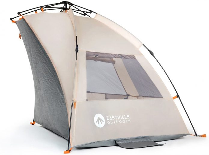best Easthills Outdoors Coastview Easy Setup Beach Tent for camping on the beach