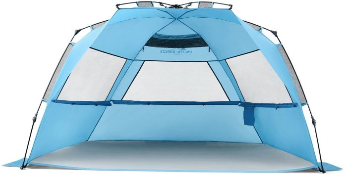 best Pacific Breeze Deluxe XL Tent tent for camping on the beach