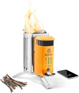 best BioLite Campstove 2 Wood Burning Electricity Generation Portable Charger for camping