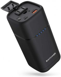 best Portable Charger RAVPower 80W AC Outlet Power Bank for Camping
