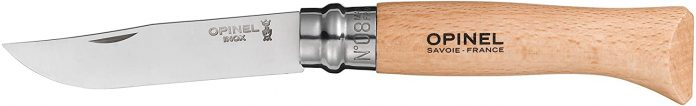 best Opinel Stainless Steel Folding Knives with Beechwood Handle and Virobloc Security Ring for Camping & hiking