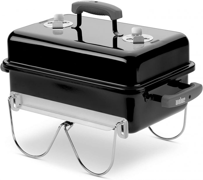 best Weber Black121020 Go-Anywhere Portable gas grill for camping
