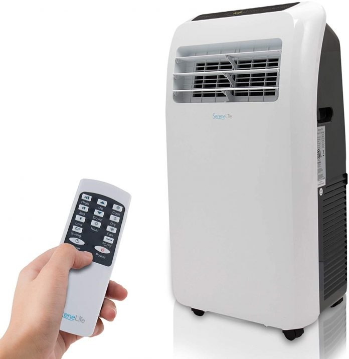 Portable SereneLife 10,000, 4-in1 AC Unit with Built-in Dehumidifier Conditioner for camping