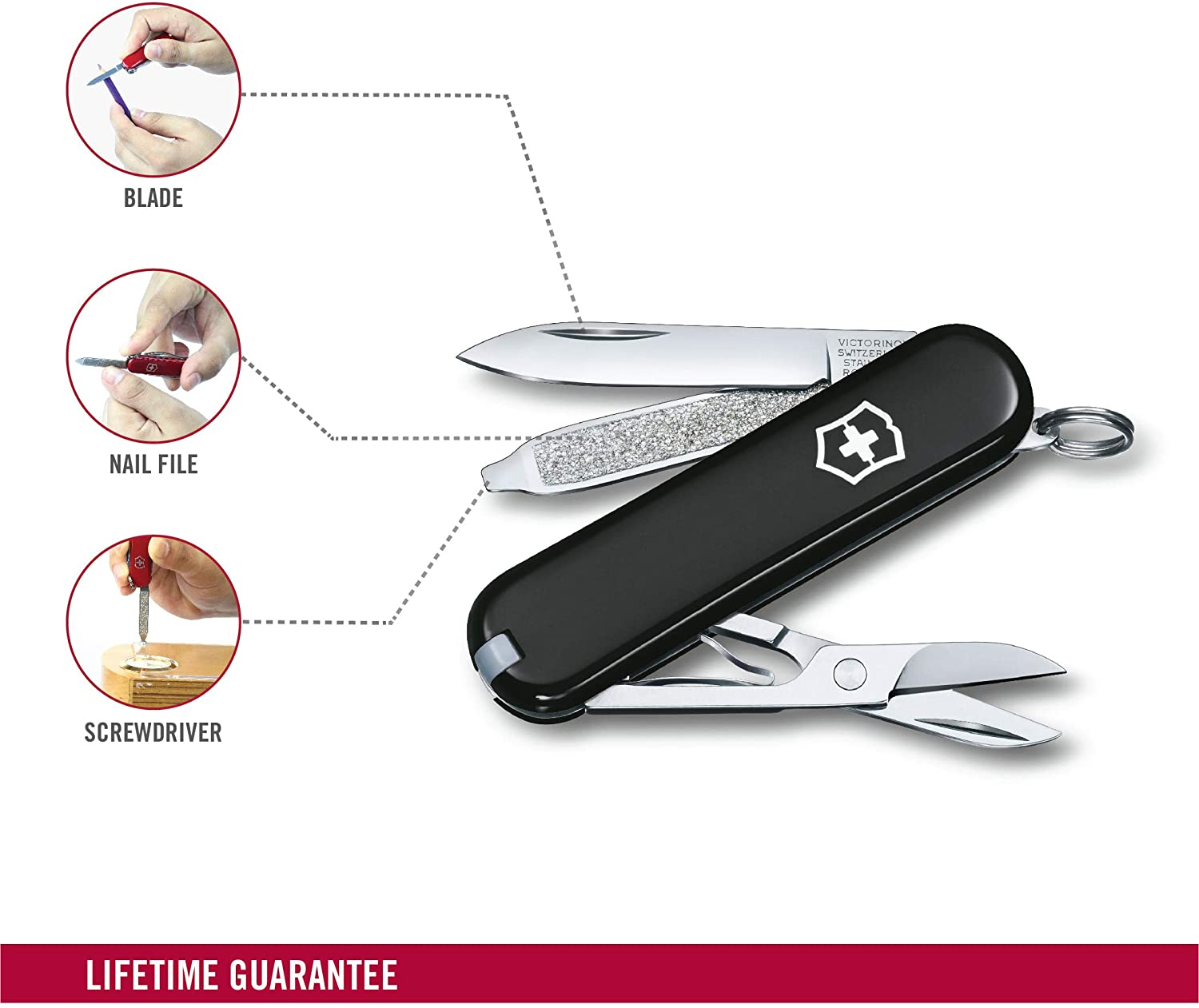 best Victorinox Classic SD Black - Swiss Army Pocket Knife for Camping & hiking