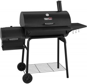 best Royal Gourmet 30 BBQ Charcoal Grill and Offset Smoker, Outdoor for camping in Black Color, CC1830S model