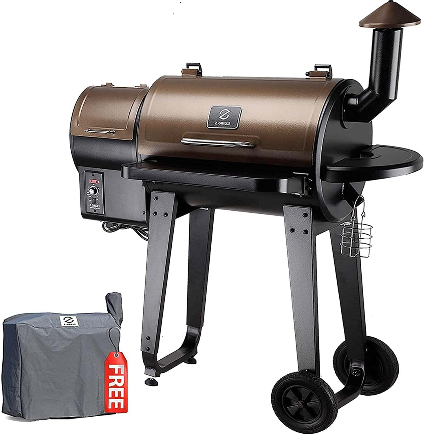 best 6 in 1 Z GRILLS ZPG-450A 2020 Wood Pellet Grill & Smoker, Auto Temperature Control BBQ Grill combo