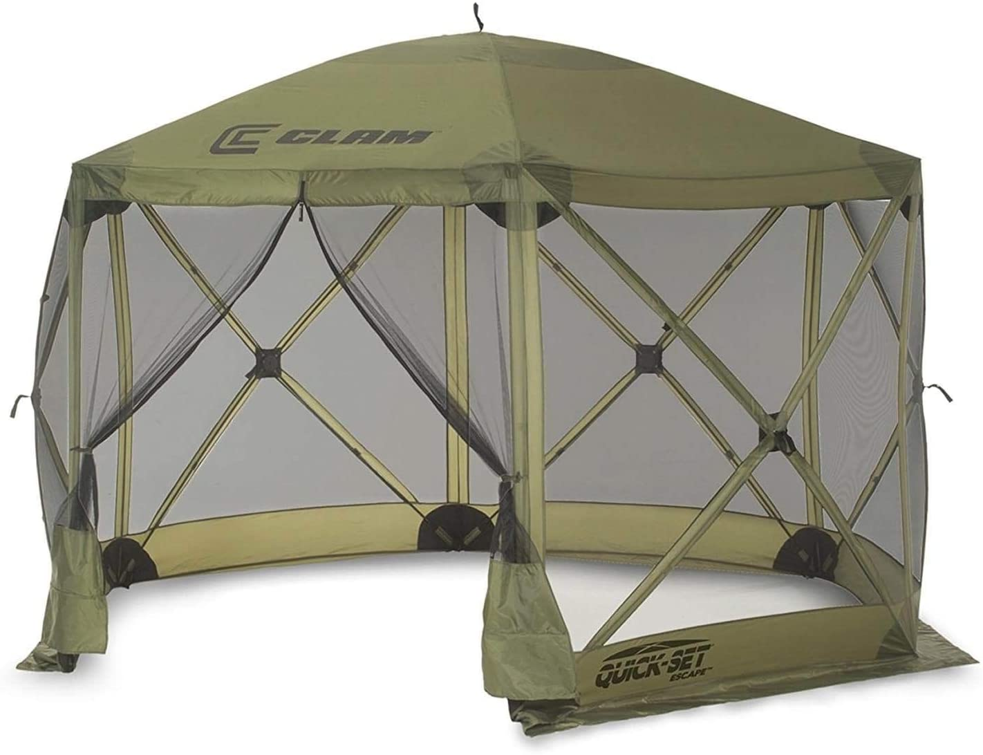 best Clam Quick-Set Escape, Portable Pop Up Camping Gazebo 6 Sided Screen Tent