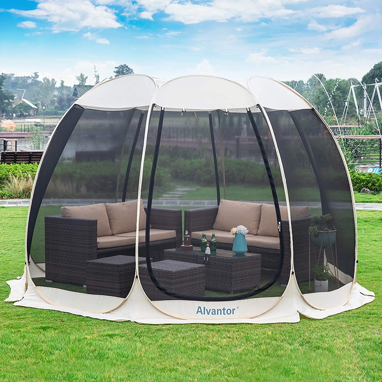 best Alvantor Screen House Outdoor Canopy Gazebos Instant Pop Up Tent For 4-15 Person