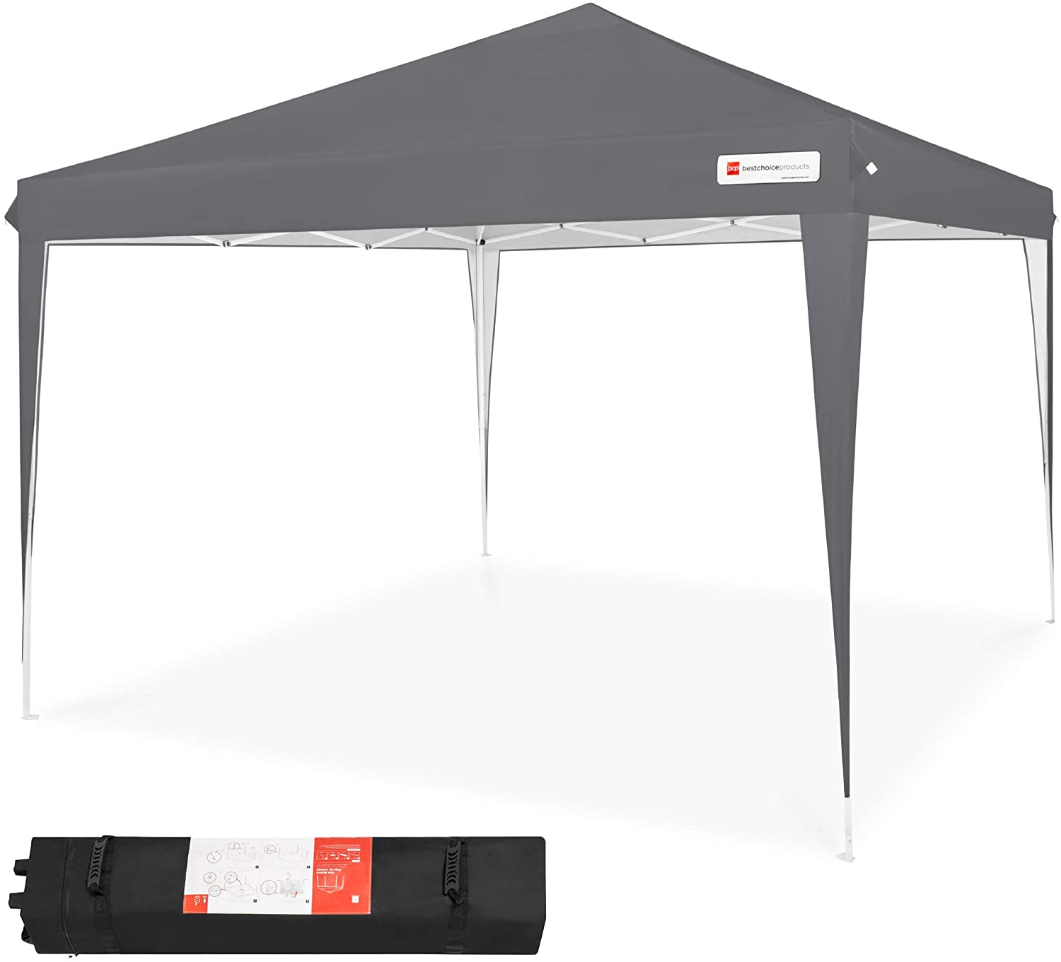 best Best Choice Product Outdoor Pop Up Gazebo Canopy Shade Portable Tent, Wind Vent Folding Instant