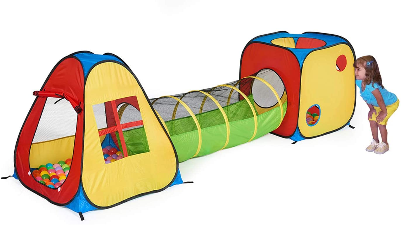 best UTEX Pop Up Play Tent with Tunnel and 3 in 1, Ball Pit for Kids