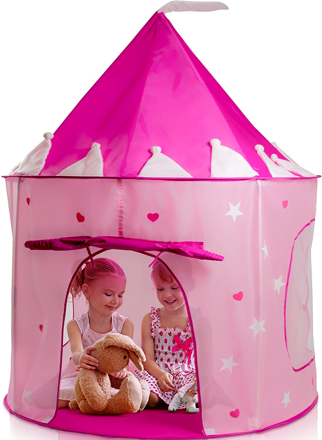 best Play22 Play Tent Princess Castle Pink - Kids Play Foldable Tent - Genuine For Indoor/Outdoor Use