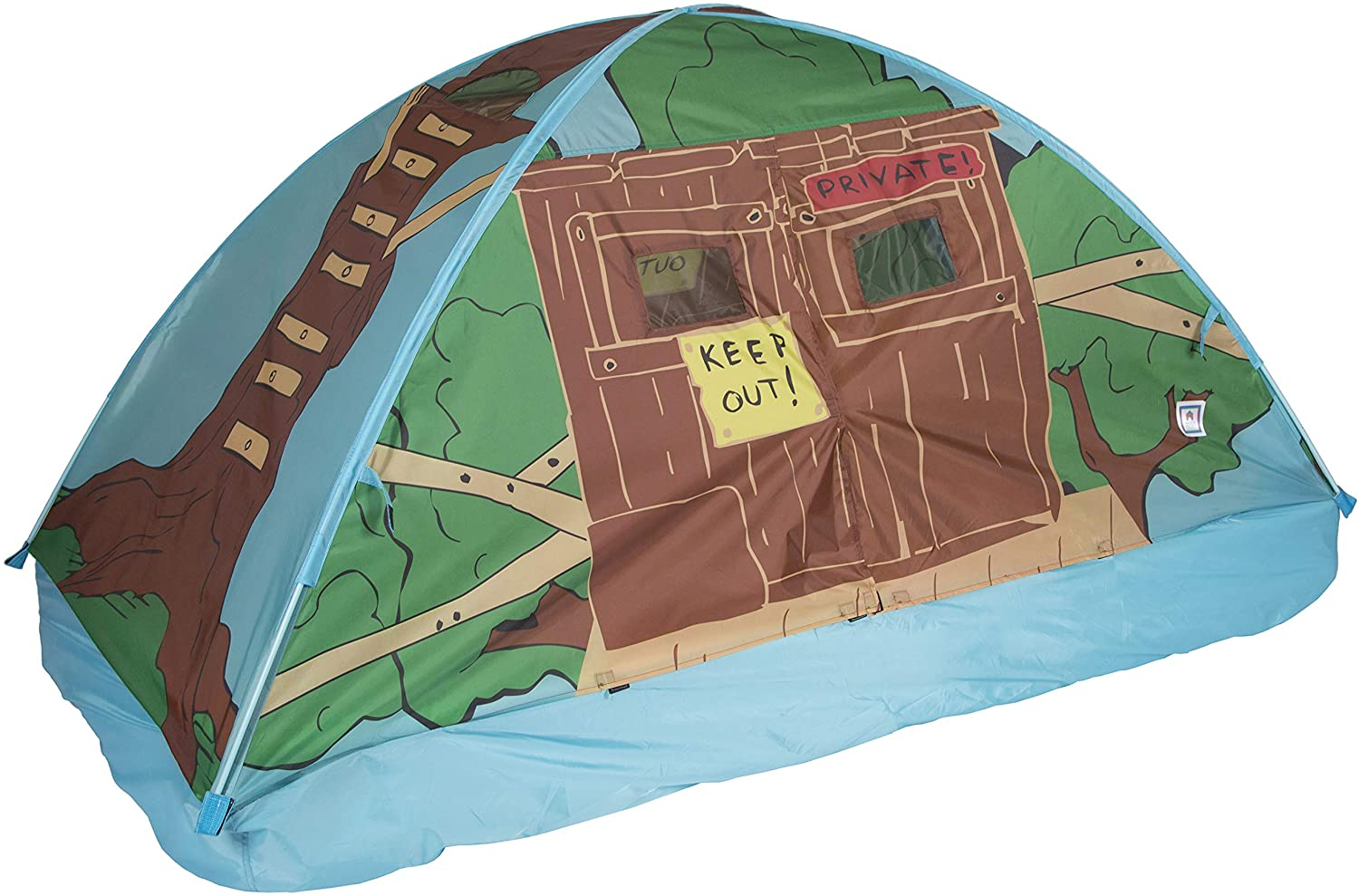 best Pacific Play Tents 19790 Kids Tree House - Bed Tent And Portable Playhouse - Twin Bed