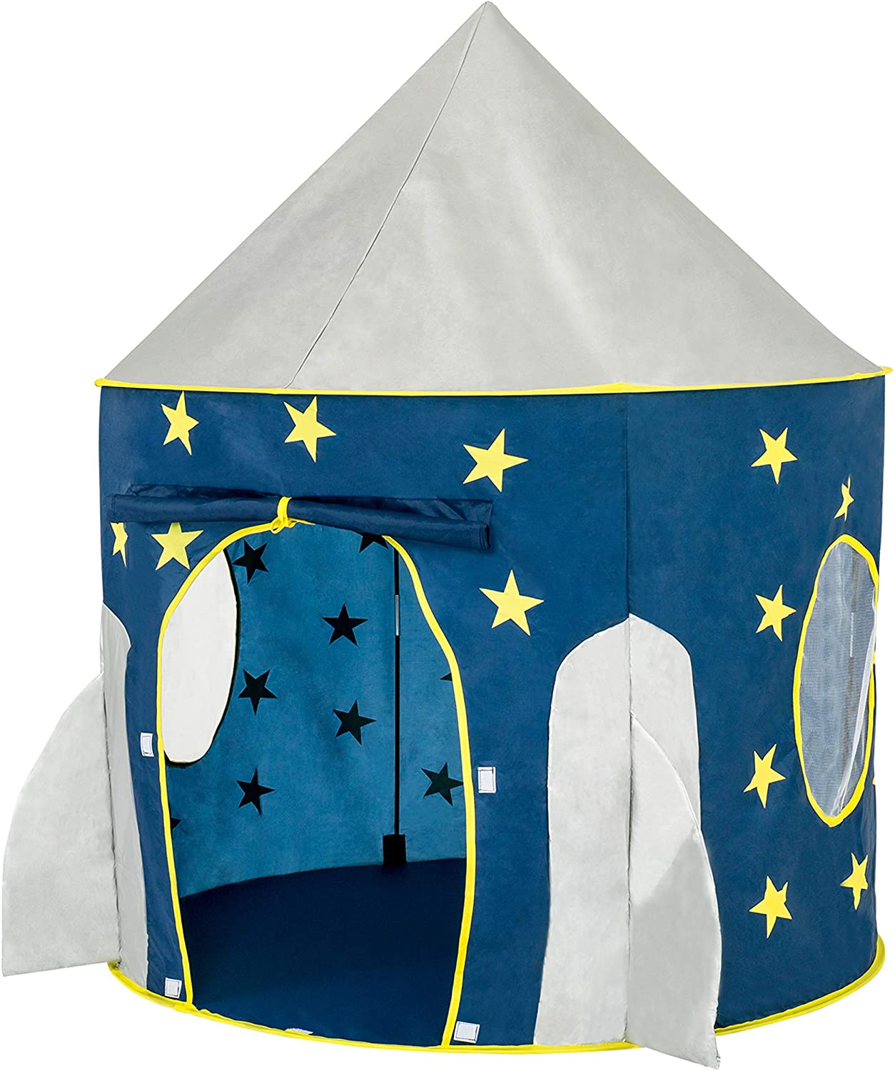 best FoxPrint Rocket Ship Tent, Space Themed Pretend pop up Play Tent, and Space Play House Tent