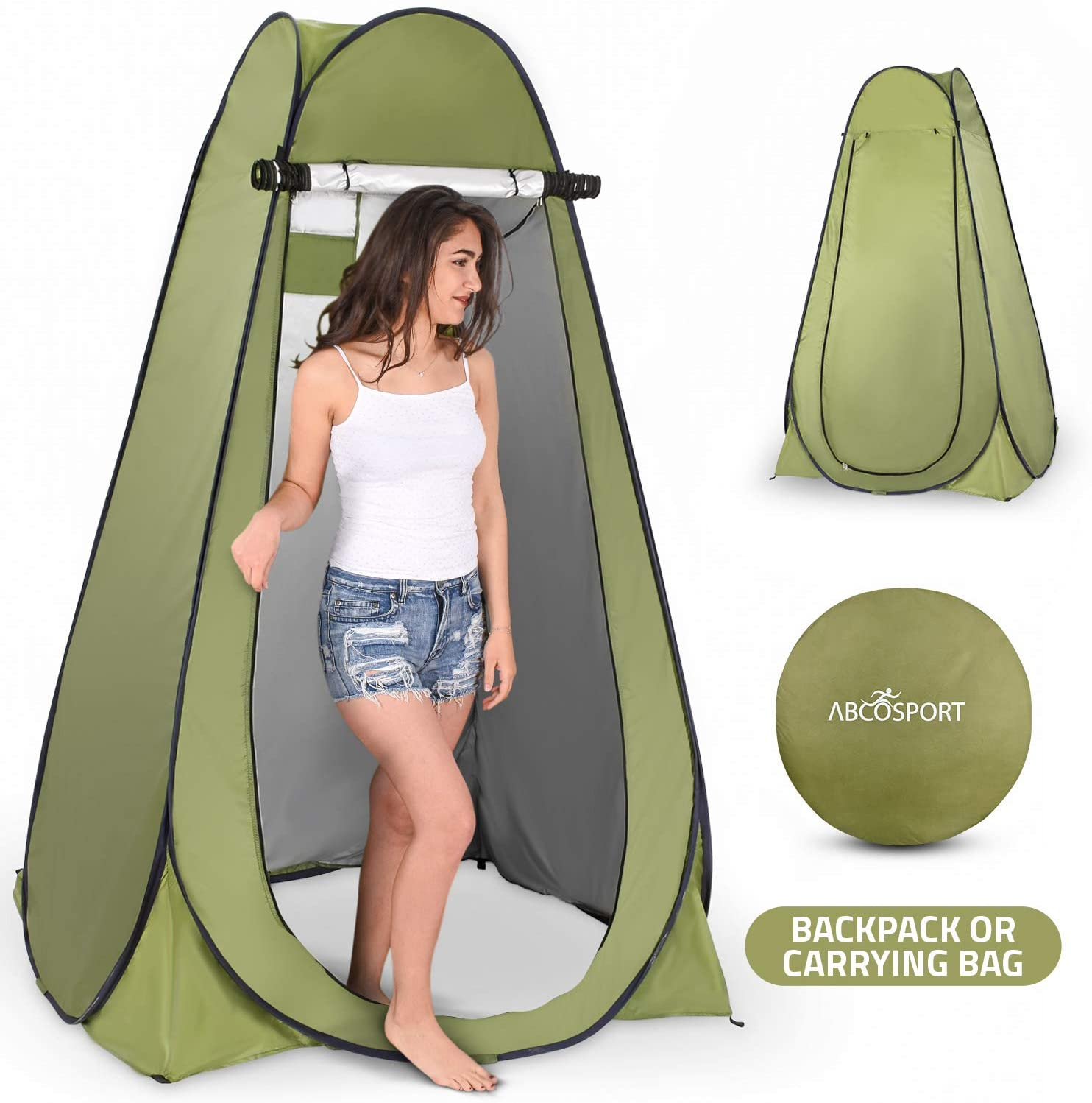 best Pop Up Privacy Tent - Campsite Toilet and Changing Room - Foldable Shower Tent For Camping and Beach