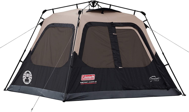 best Coleman Cabin 4-Person Instant Tent  pop up tent