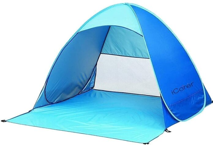 best iCorer Instant Pop Up Round Beach Automatic Shelter pop up Tent for beach
