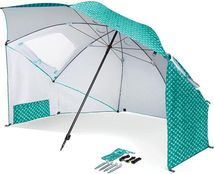 best Sport-Brella Vented SPF 50 Plus Sun & Rain Canopy in Umbrella Shape   pop up Tent for beach: